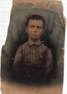Restored photo of a boy circ 1800
