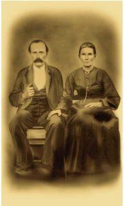 Restored Photo Civil War Veteran and Wife