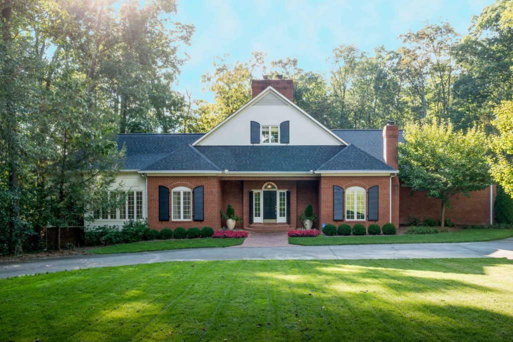 Photo of front of executive home for real estate photographer in Dalton, Ga