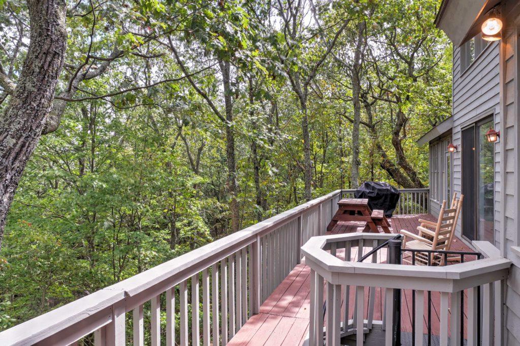 Deck on Home Big Canoe, Ga real estate photography