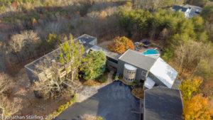 real estate drone photo of exterior view of home, Dalton, GA