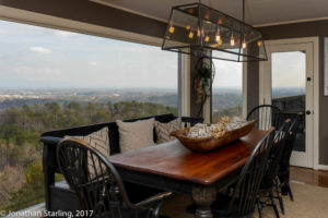 dining room with view real estate photo dalton, GA Chattanooga, TN